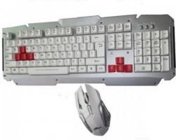 ايه تيك لوحة مفاتيح ميتال وماوس لاسلكيين - KB3300